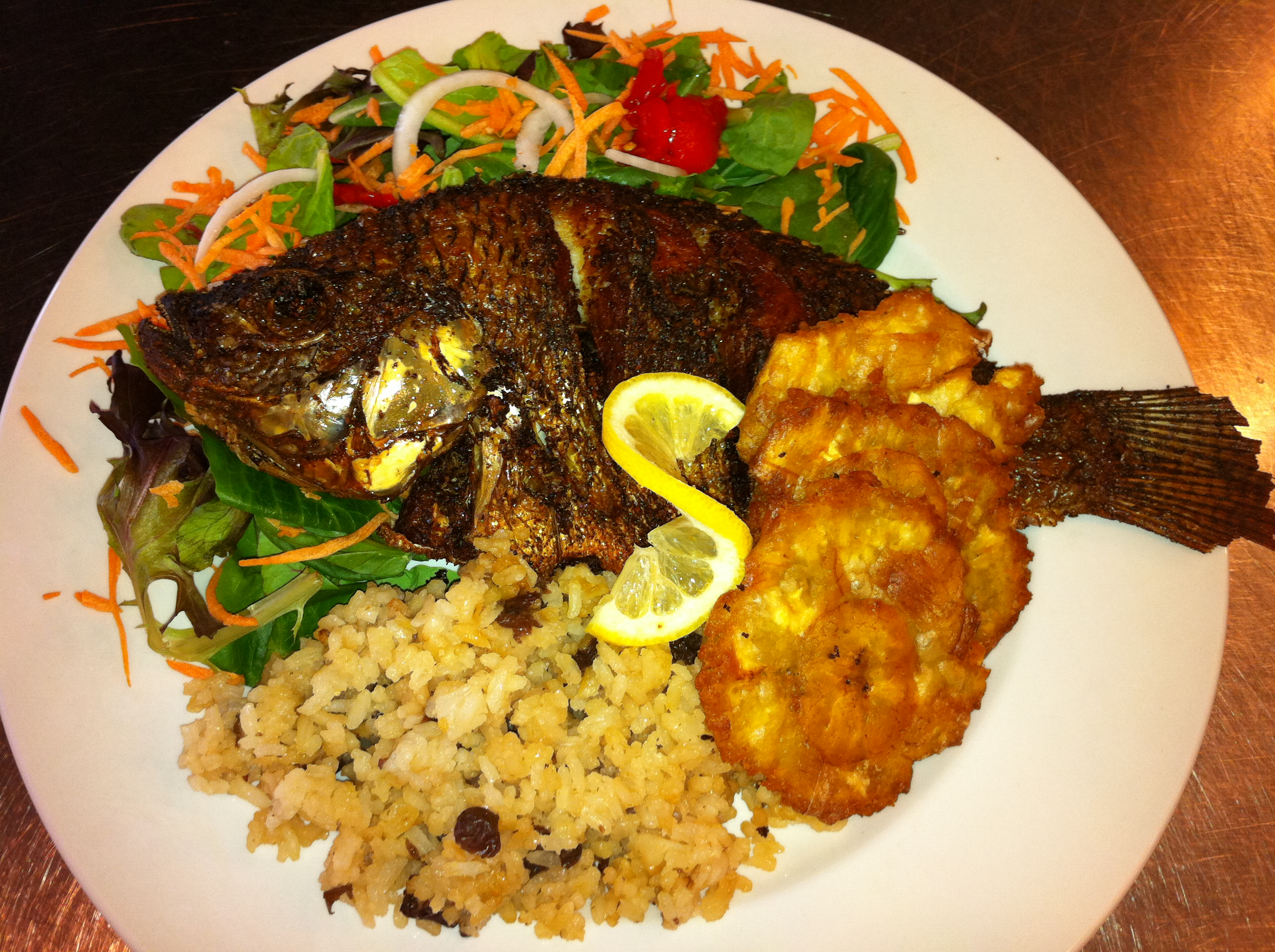 fried fish and coconut rice nomblage pinterest