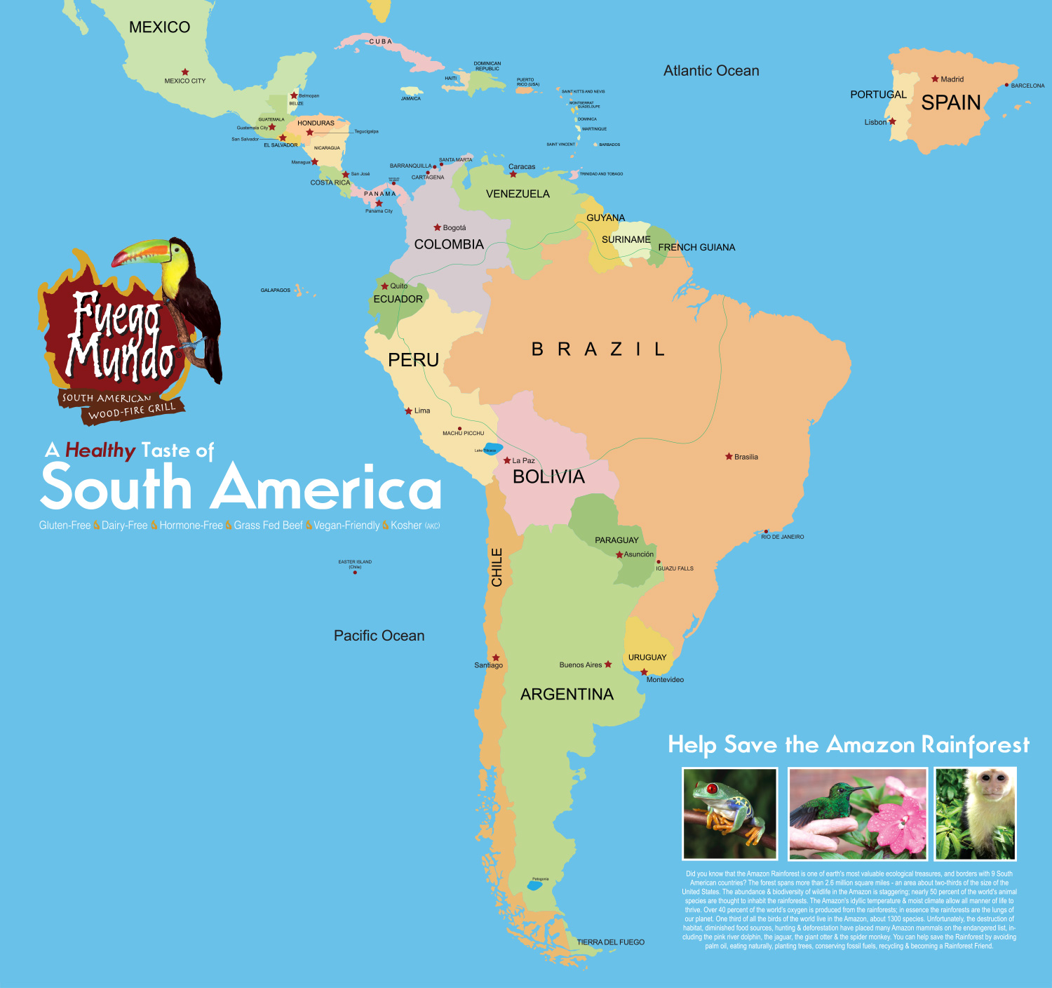 Map Of Latin American Countries And Central America Map Of Latin America Onl